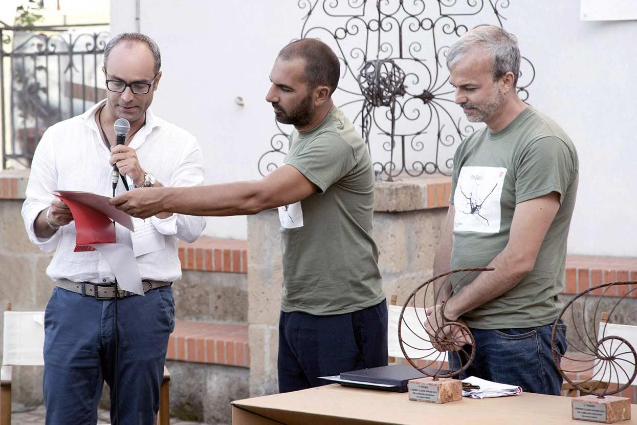 Massimo Granchi Premio Città di Siena e gli organizzatori del Festival